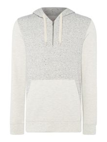 Jack & Jones Marl-Panelled Hooded Sweatshirt