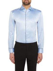 Hugo Gordon Tonal Chevron Cotton Shirt