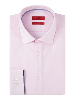 Jimmy Slim Pin Point Contrast Trim Cotton Shirt
