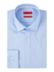 Hugo Jimmy Pin Point Contrast Trim Cotton Shirt