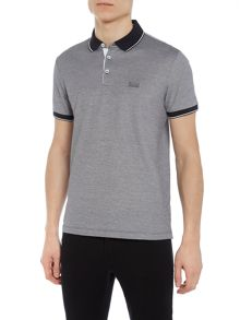 Hugo Boss Prout 1 regular fit mercerised tipped polo