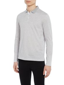 Hugo Boss Pearl 03 regular fit long-sleeve tipped polo
