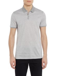 Hugo Boss Penrose slim fit fine stripe polo shirt