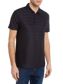 Hugo Boss Pack 08 regular fit textured stripe polo shirt