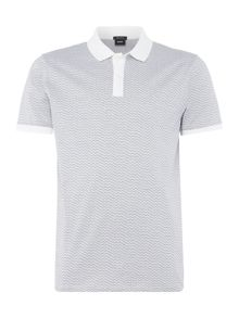 Hugo Boss Parlay regular fit micro pattern polo shirt