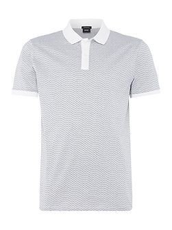 Parlay regular fit micro pattern polo shirt