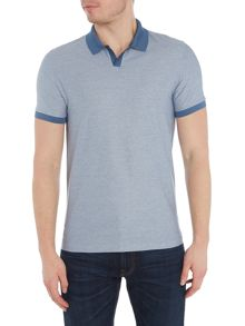 Hugo Boss Phillipson slim fit open collar polo shirt