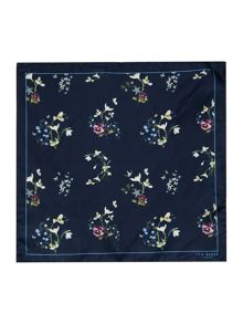Ted Baker Floral Print Silk Pocket Square