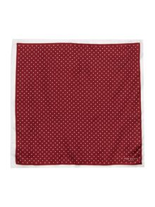 Ted Baker Micro Geo Print Silk Pocket Square