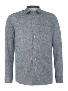 Selected Homme Button-Through Long-Sleeve Cotton Shirt