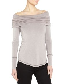 Free People Cowmo Cowl Neck long sleeve top