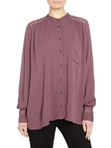 Free People The Best v neck long sleeve blouse