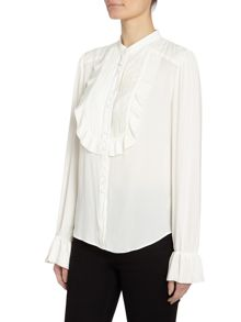Free People All Shook Up pintuck ruffle blouse