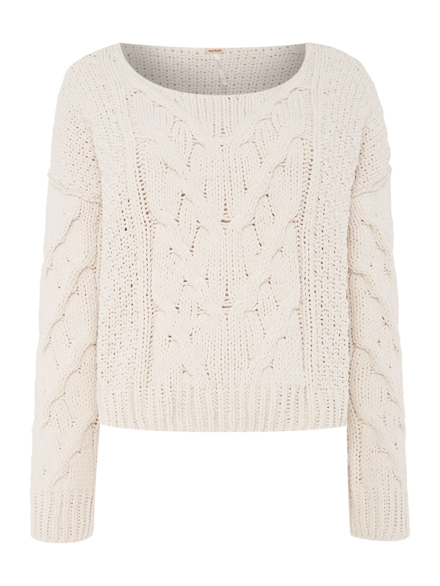 Free People Free People Sticks and Stones pullover top in ivory, White
