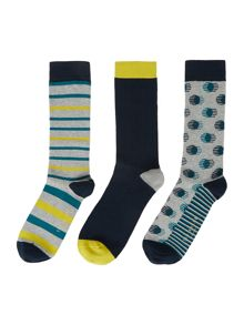 Ted Baker Organic Three Pack Sock Gift