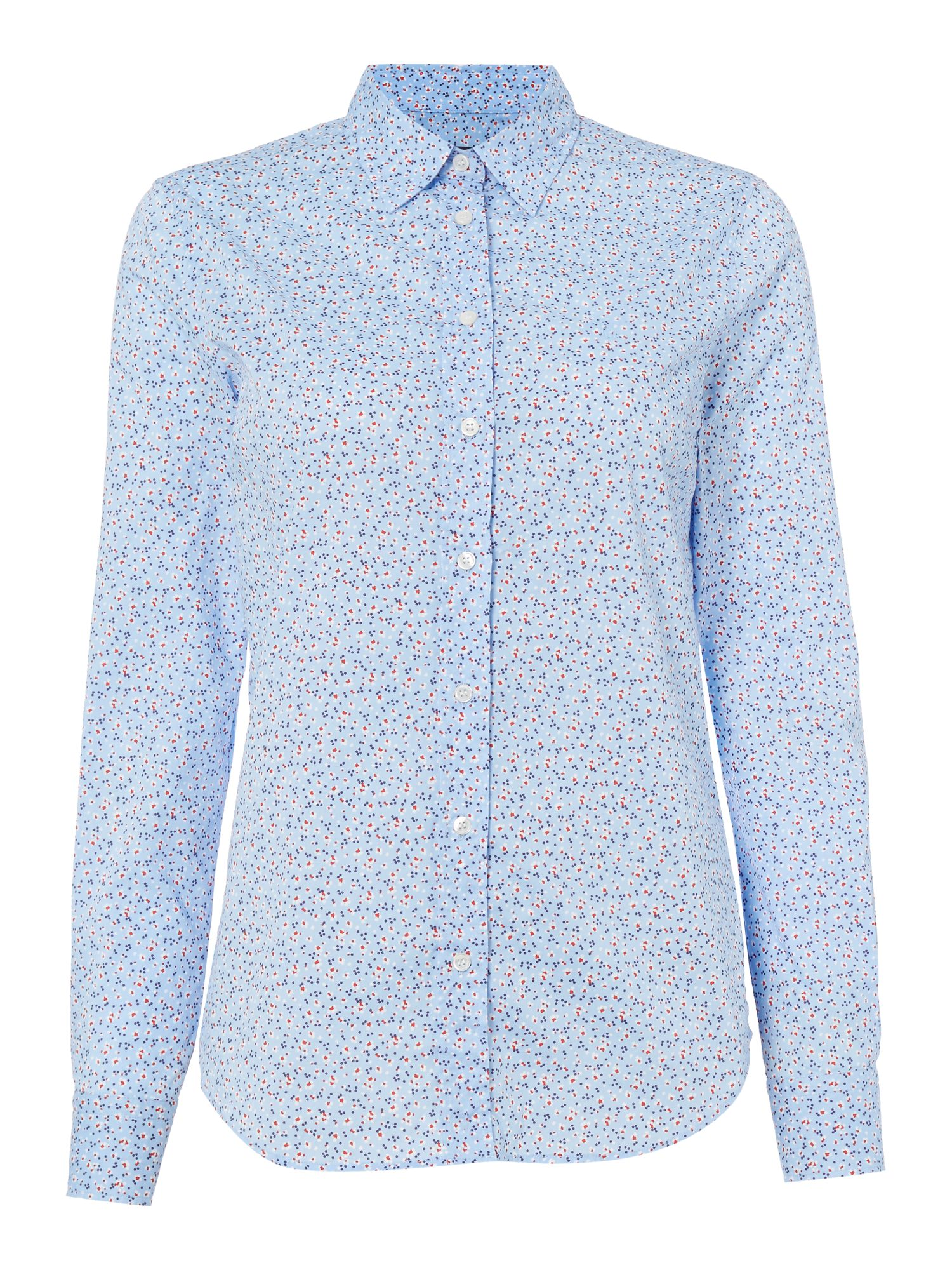 Gant Mini meadow floral stretch shirt, Blue