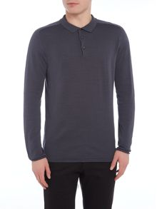 Selected Homme Knitted Long-Sleeve Cotton Polo-Shirt