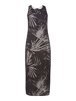 Devore palm dress