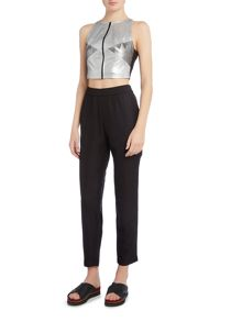 Label Lab Metallic crop top