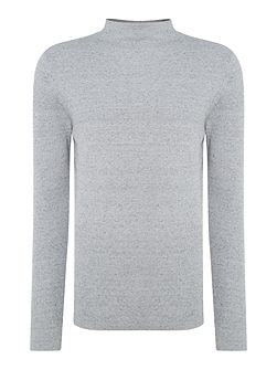 Rib-Knit Marl Jumper