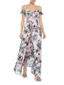 Vero Moda Sleeveless cold shoulder frill maxi dress