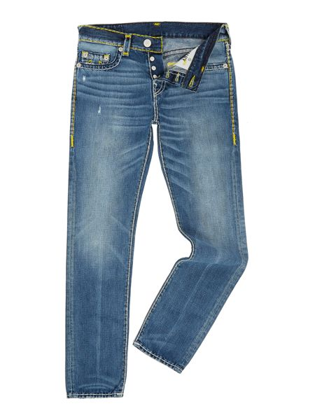 True Religion Rocco skinny fit super t no flap mid wash jeans