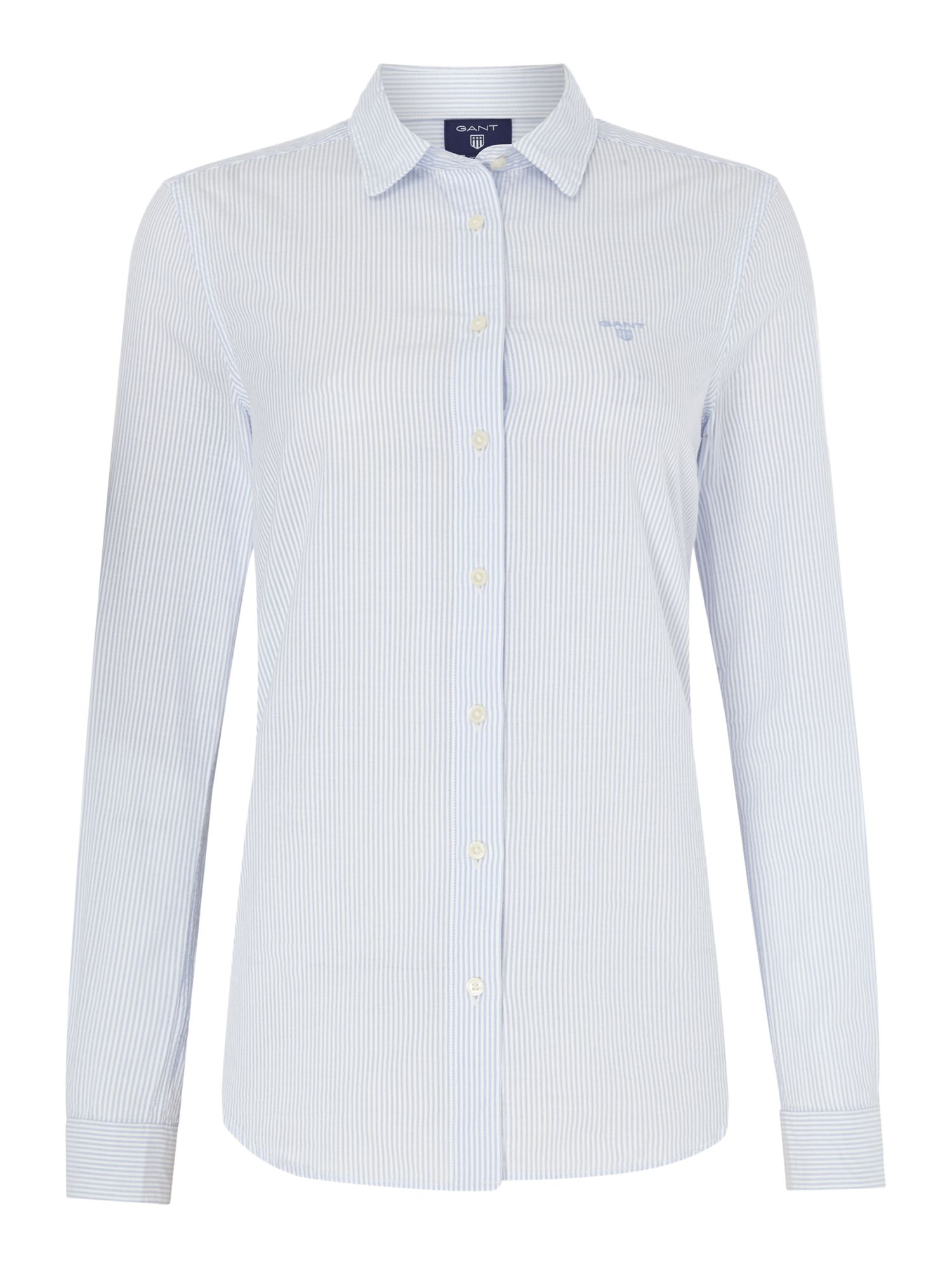 Gant Seersucker shirt, Light Blue