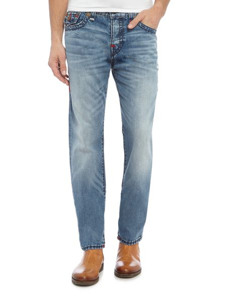 True Religion Rocco slim super t with flap light wash jeans