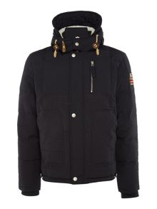 True Religion Down padded hoodied jacket