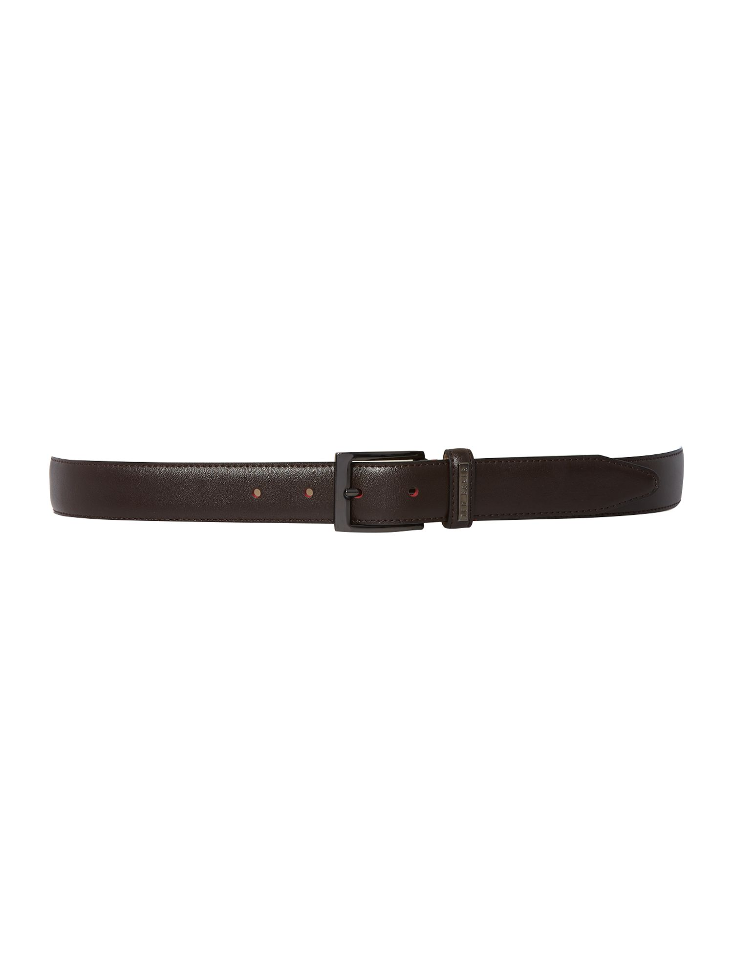 Ted Baker Ted Baker Leather Keeper Belt Chocolate