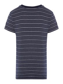 Lacoste Boys Fine Stripe Crew Neck T-Shirt