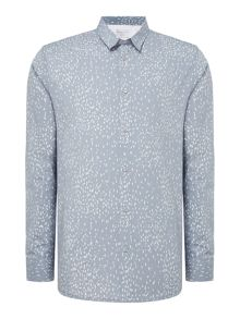 Selected Homme Spot All-Over-Print  Long-Sleeve Shirt