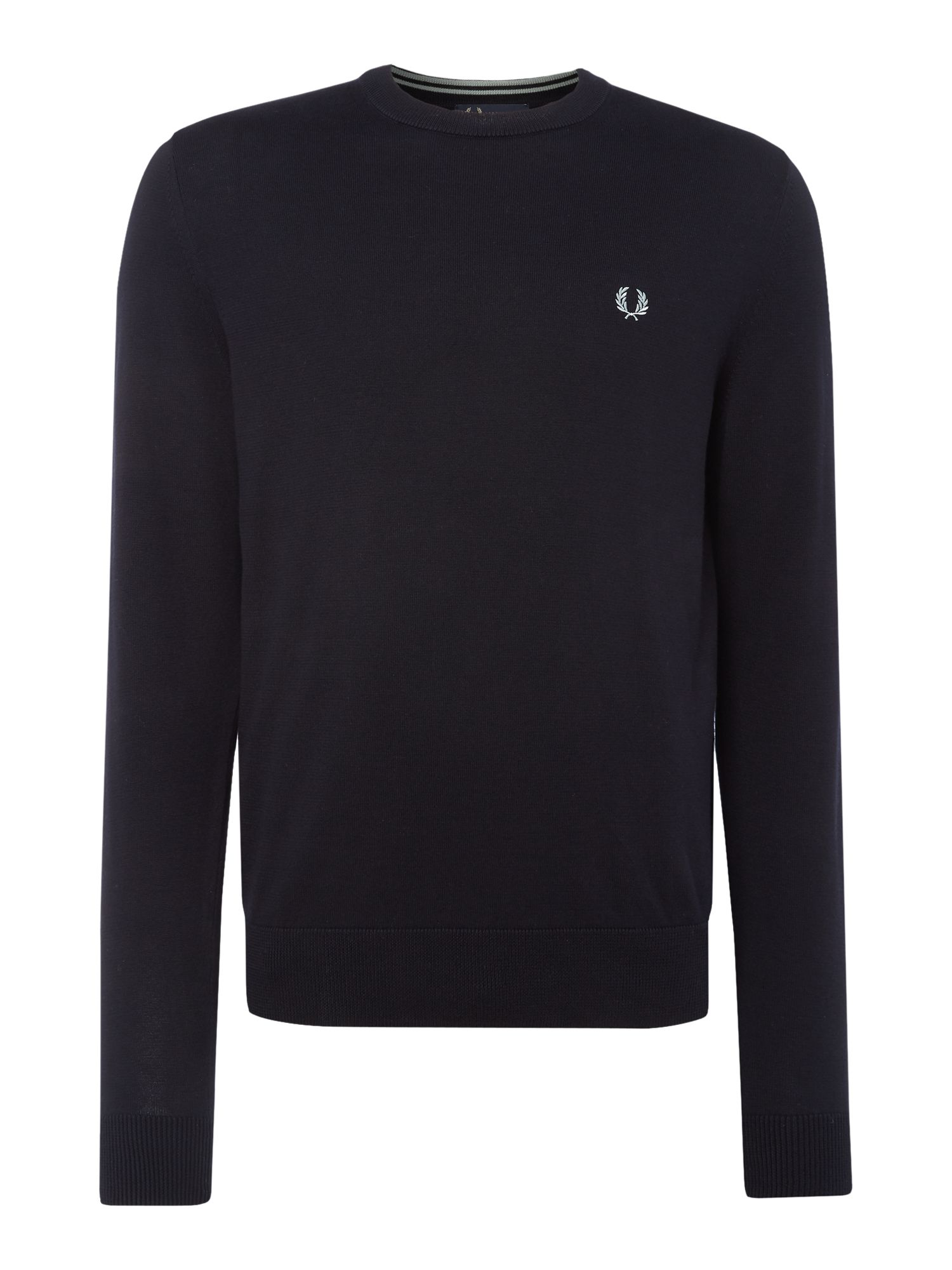 Mens Fred Perry Cotton crew neck jumper Navy