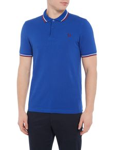 Fred Perry Plain Twin Tipped Polo Shirt