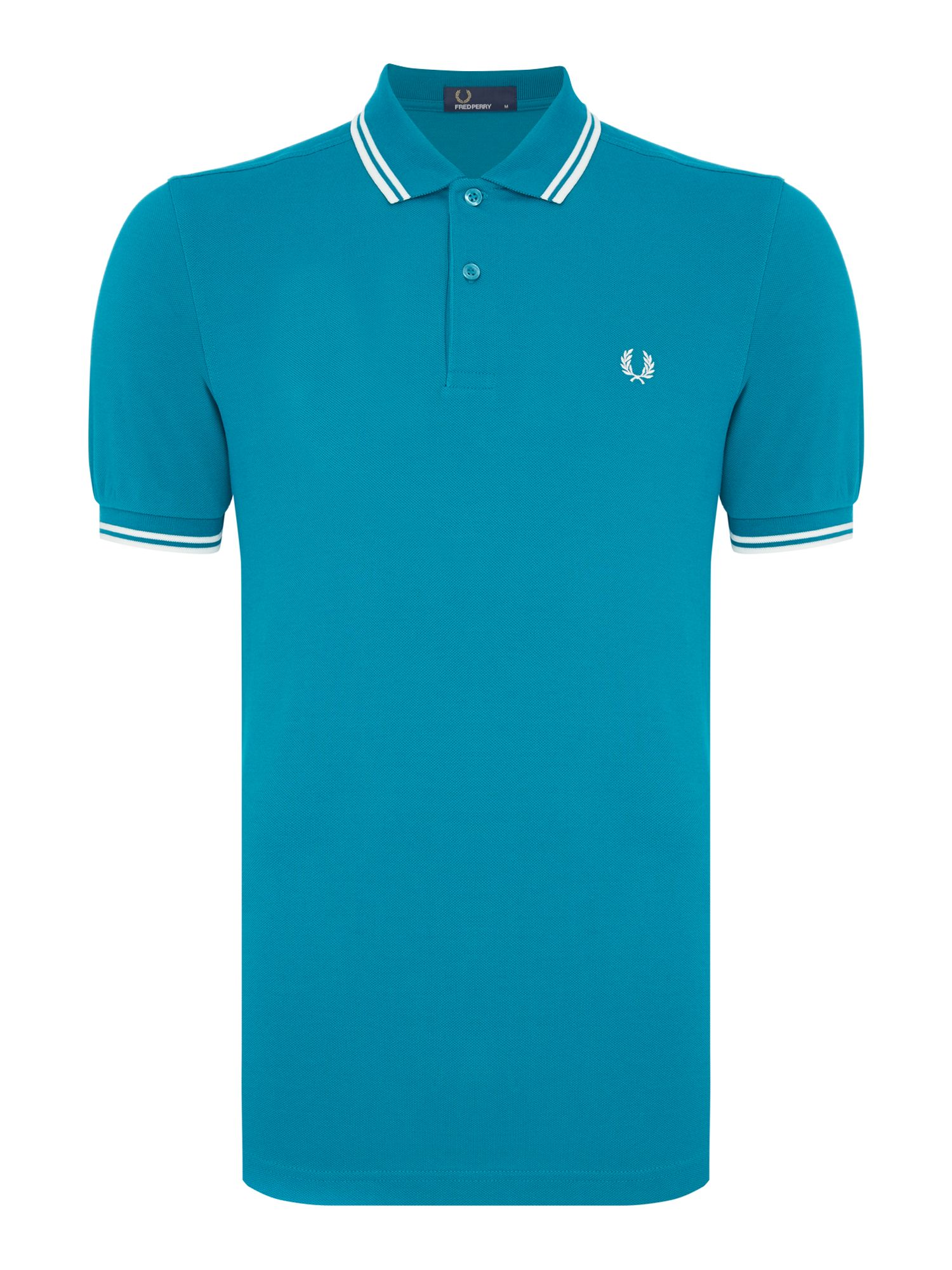 Mens Fred Perry Plain Twin Tipped Polo Shirt Green