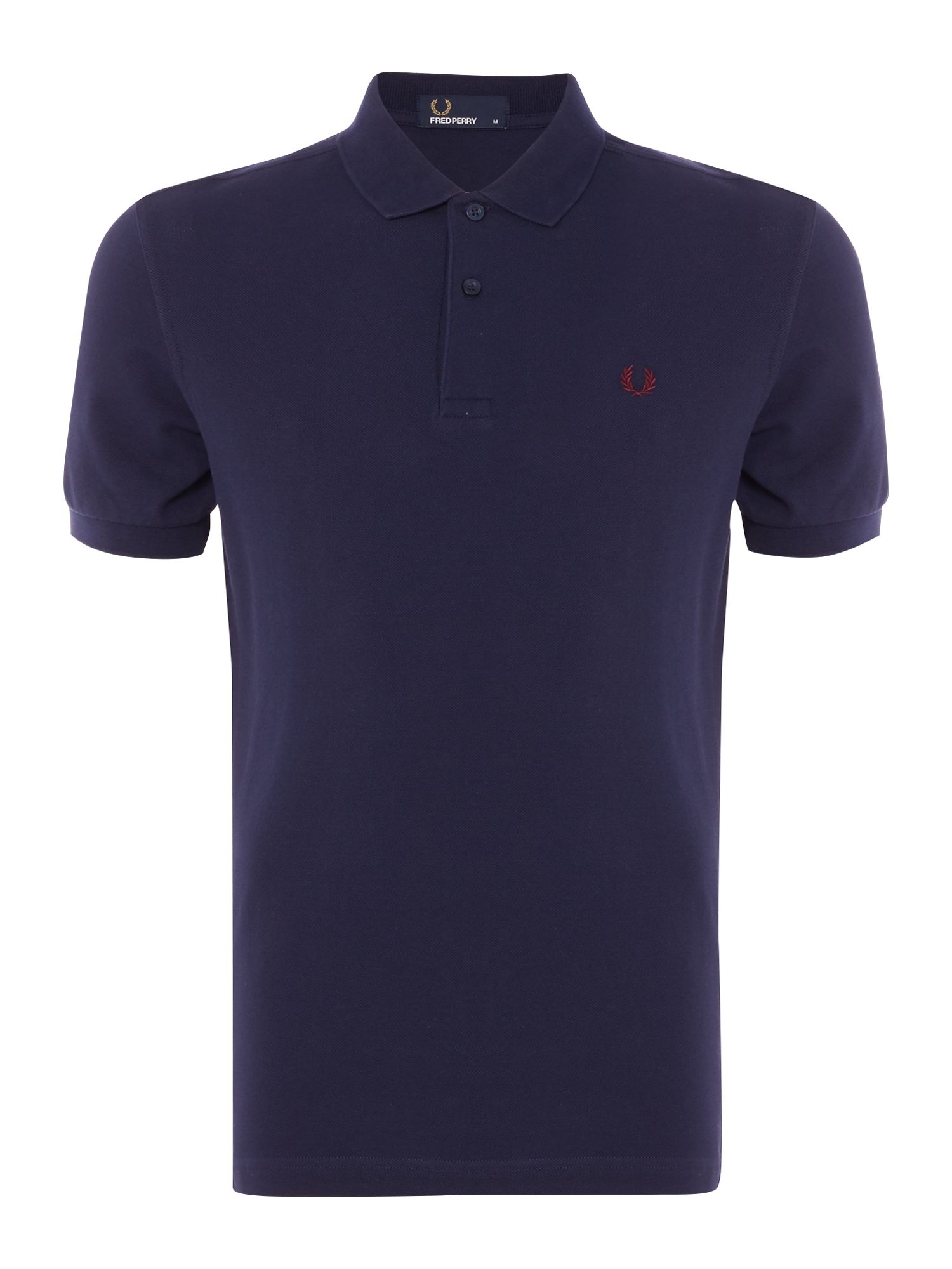 Mens Fred Perry Slim fit pique polo shirt Dark Navy