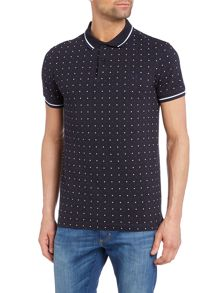 Fred Perry Square print short sleeve polo