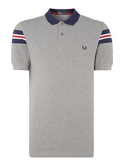 Tramline short sleeve polo
