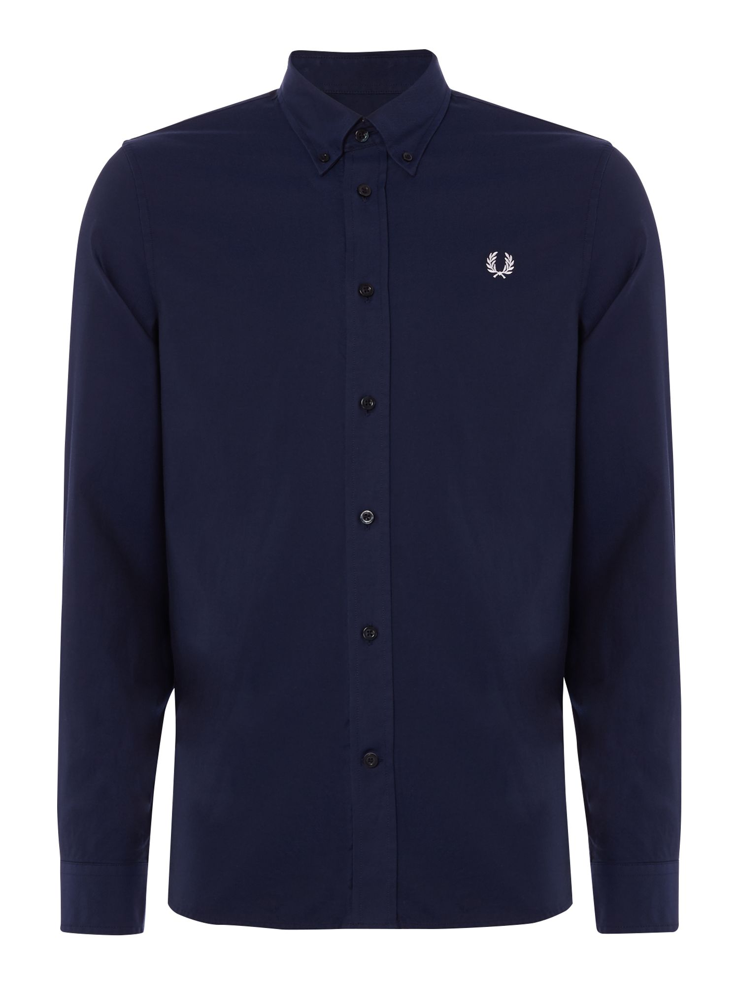 Mens Fred Perry Long sleeve twill shirt French Navy