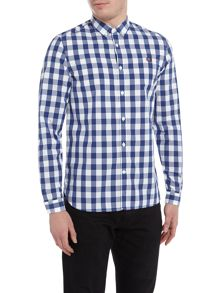 Fred Perry Tartan gingham mix long sleeve shirt