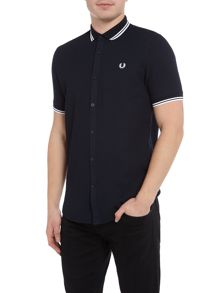 Fred Perry Twin tipped waffle short sleeve shirt