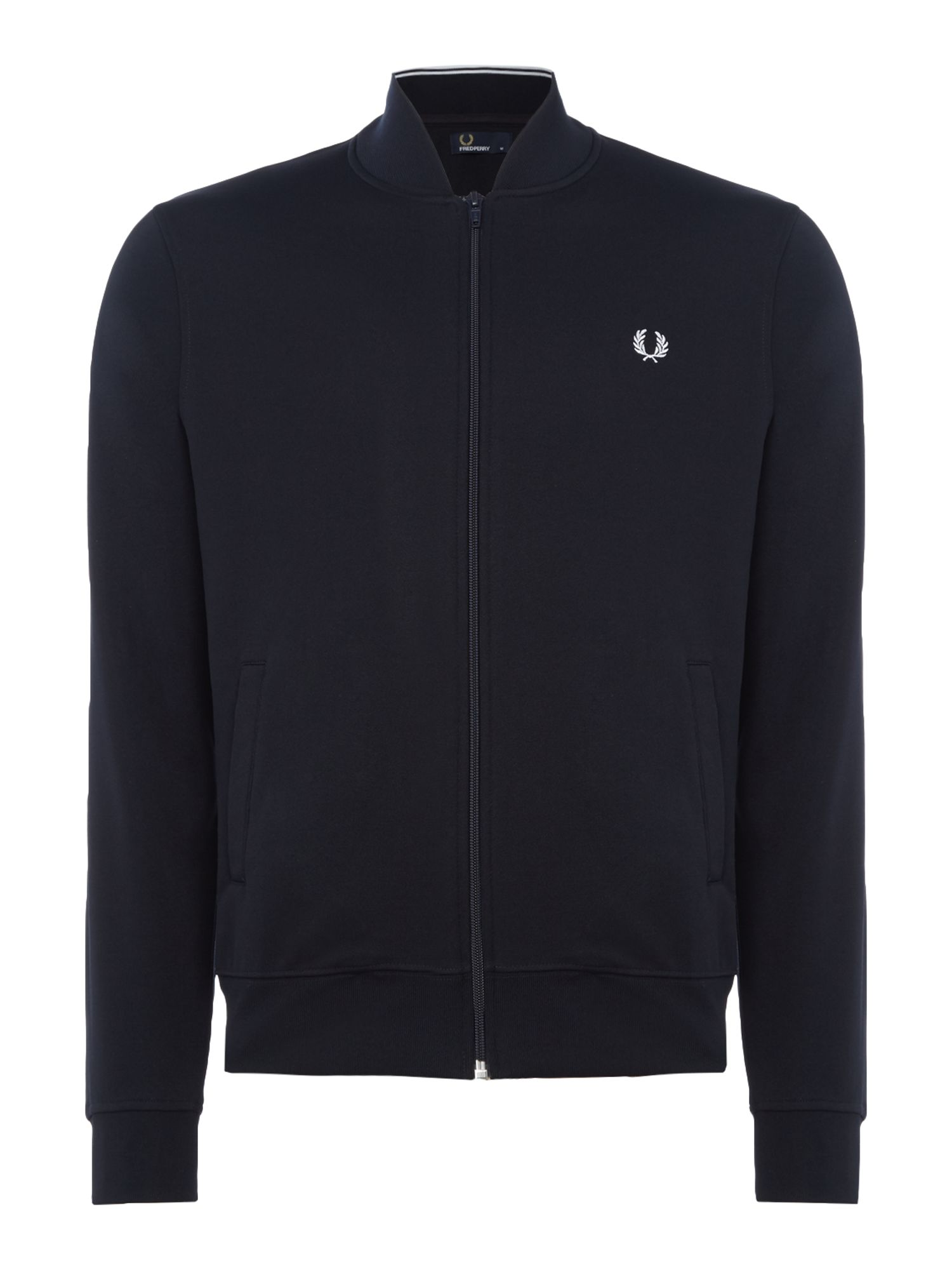 Mens Fred Perry Bomber neck track jacket French Navy