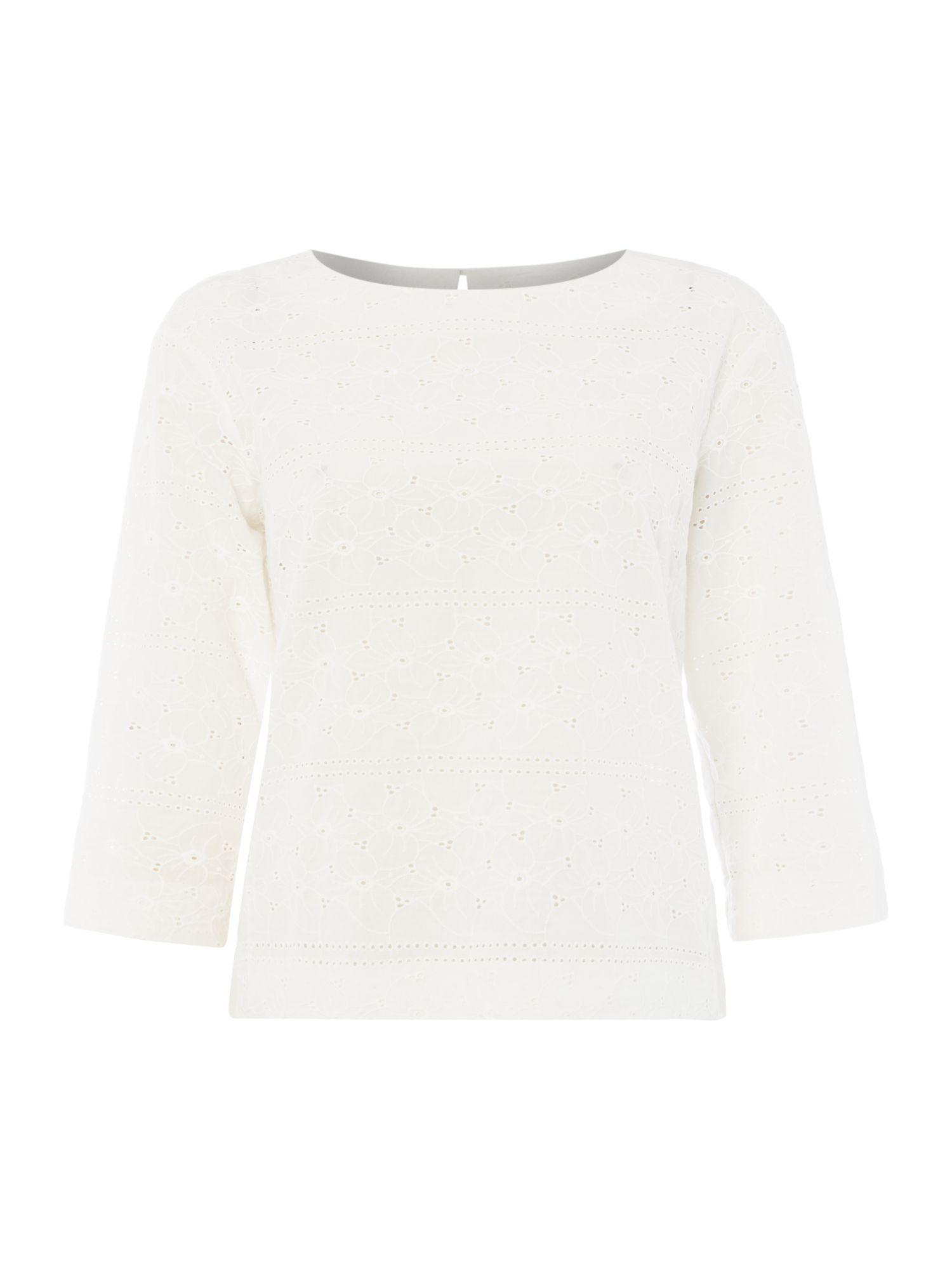 Gant Broderie anglaise top, White