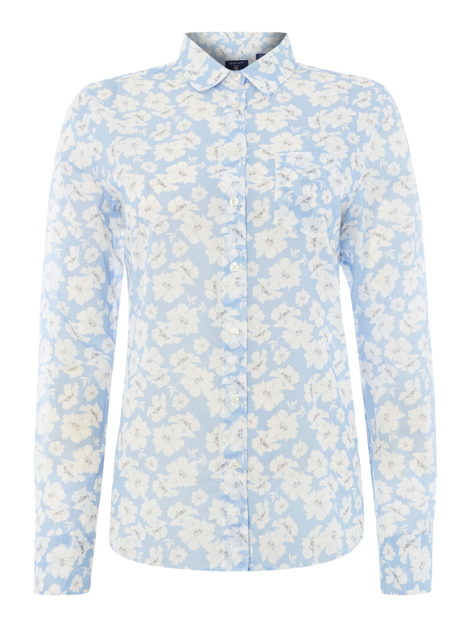 Gant Floral shirt, Light Blue