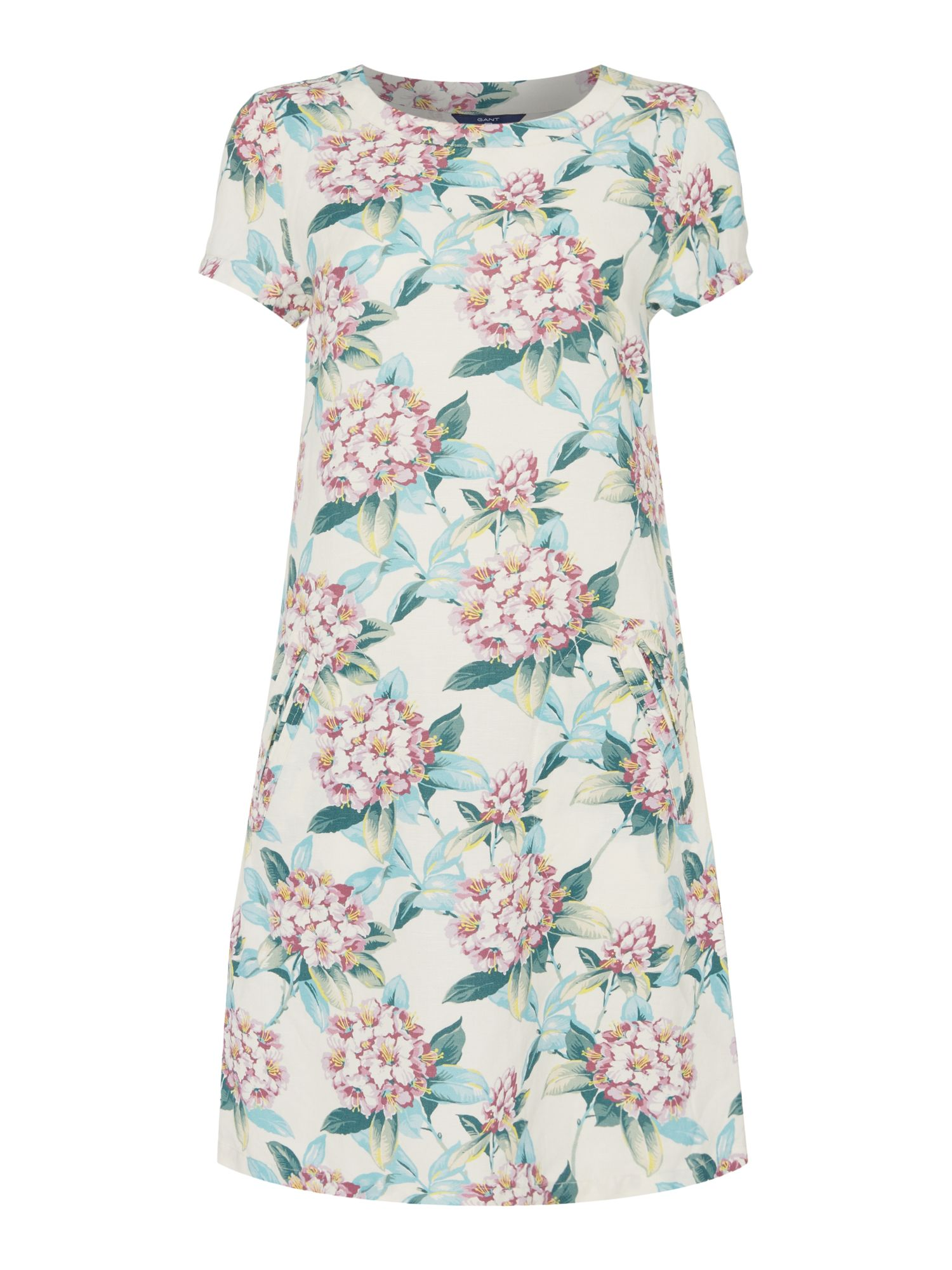 Gant Spring flower a line dress, Multi-Coloured