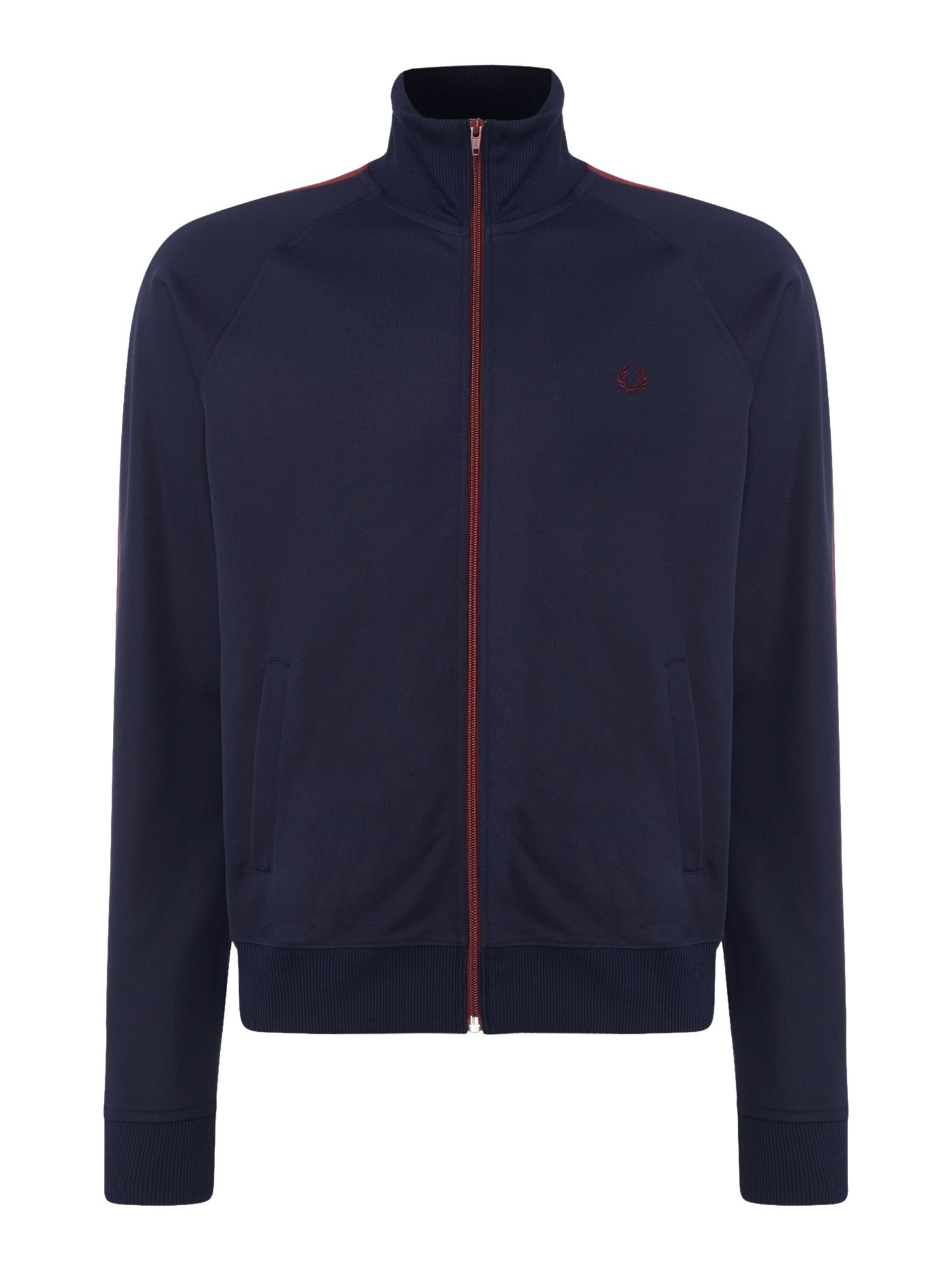 Mens Fred Perry Contrast panel track jacket Navy