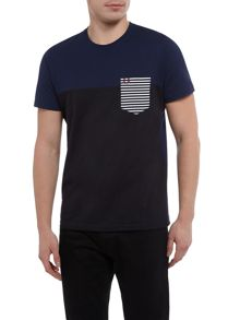 Fred Perry Stripe contrast pocket short sleeve t-shirt