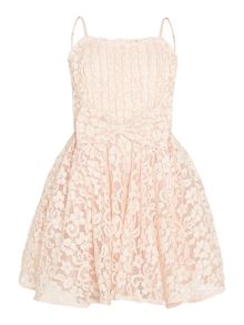 Bardot Junior Girls Starlet Lace Front Bow Dress