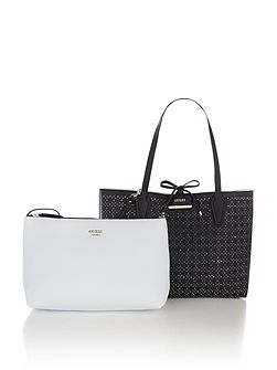 Bobbi perforated reversible tote bag