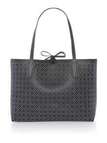 Guess Bobbi perforated reversible tote bag